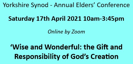 Yorkshire Synod – Annual Elders' Conference