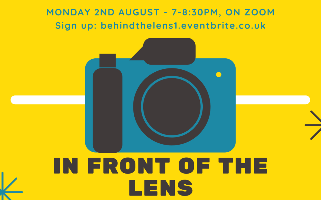 In front of/behind the lens!