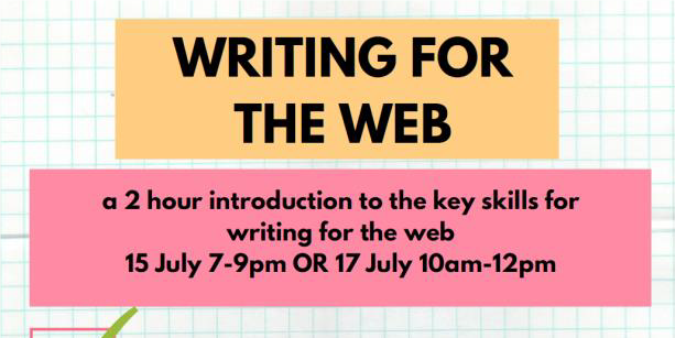 Writing for the Web session coming up!